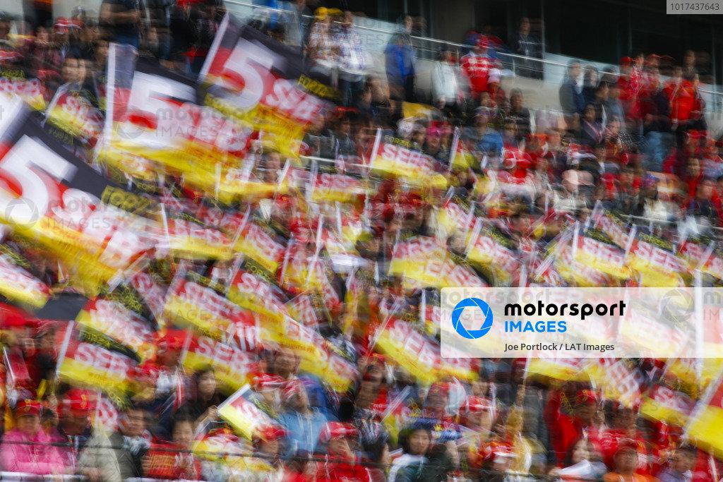 Crowd support for Sebastian Vettel, FerrariCrowd support for Sebastian Vettel, Ferrari