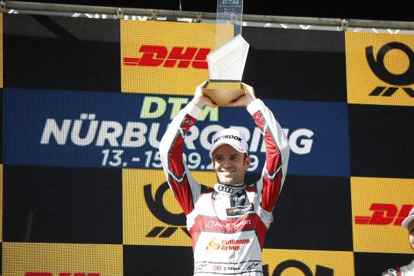Podium: Race winner Jamie Green, Audi Sport Team Rosberg.