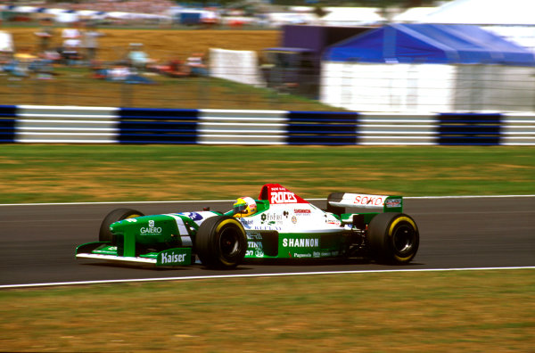 Silverstone, England.12-14 July 1996.Luca Badoer (Forti FG03 96 Ford) did not qualify.Ref-96 GB 30.World Copyright - LAT Photographic