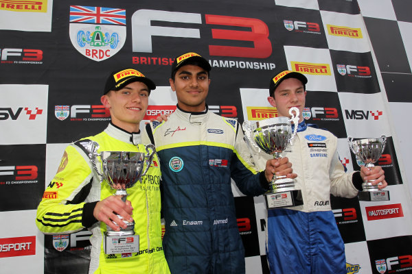 2017 BRDC British F3 Championship, Donington Park, Leicestershire. 23rd - 24th September 2017. Jordan Cane (GBR), Enaam Ahmed (GBR) Carlin BRDC F3, Alex Quinn Lannan Racing World Copyright: JEP/LAT Images