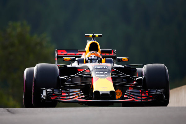 Spa Francorchamps, Belgium.  Friday 25 August 2017. Max Verstappen, Red Bull Racing RB13 TAG Heuer.  World Copyright: Andy Hone/LAT Images  ref: Digital Image _ONZ8735