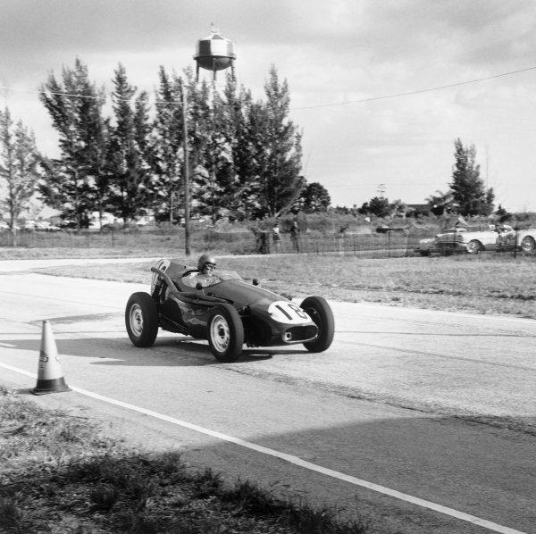 Sebring, Florida, USA. 10 - 12 December 1959.Bob Said (Connaught C-Alta), retired, action. World Copyright: LAT Photographic.Ref:  5483.