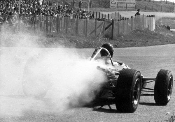 1966 Dutch Grand Prix.Zandvoort, Holland. 24 July 1966.Dan Gurney, Eagle AAR101-Climax, retired, engine failure, action.World Copyright: LAT PhotographicRef: Autosport b&w print