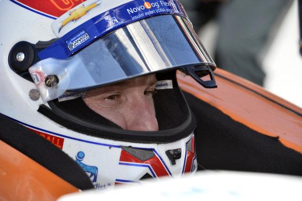 Charlie Kimball (USA) Novo Nordisk Ganassi Racing.Verizon IndyCar Series, Rd18, MAVTV 500, Auto Club Speedway, Fontana, USA, 29-30 August 2014.