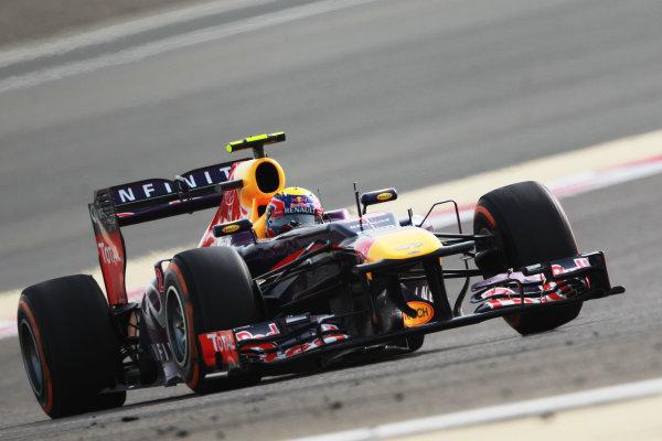 Bahrain International Circuit, Sakhir, Bahrain Sunday 21st April 2013 Mark Webber, Red Bull RB9 Renault.  World Copyright: Andy Hone/LAT Photographic ref: Digital Image HONY1369