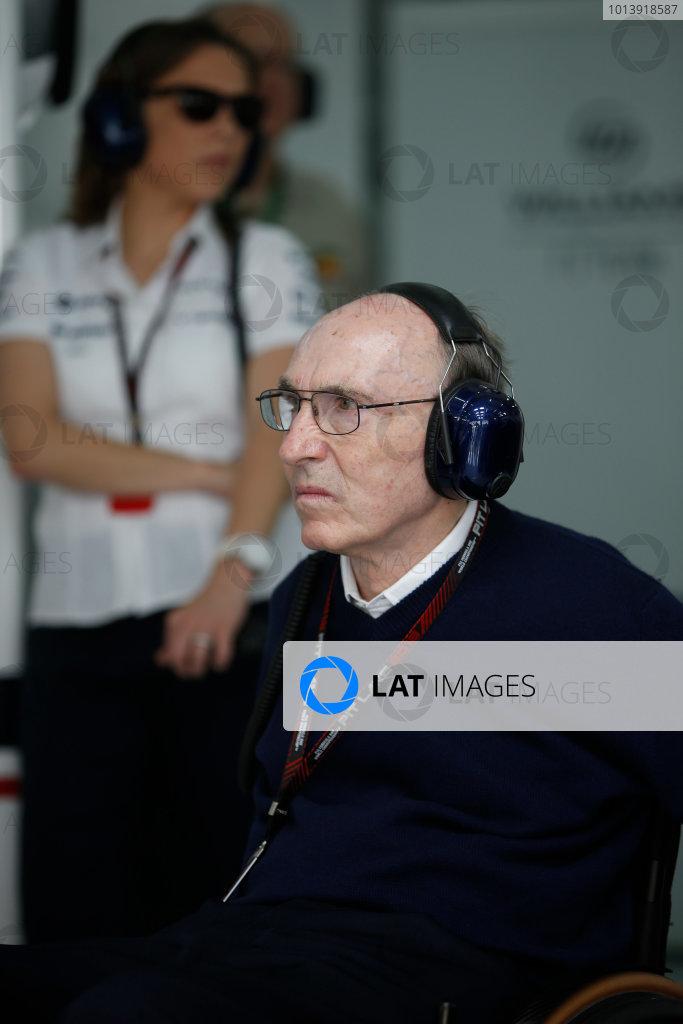 Bahrain International Circuit, Sakhir, Bahrain Friday 19th April 2013 Sir Frank Williams, Team Principal, Williams F1.  World Copyright: Glenn Dunbar/LAT Photographic ref: Digital Image _89P0481
