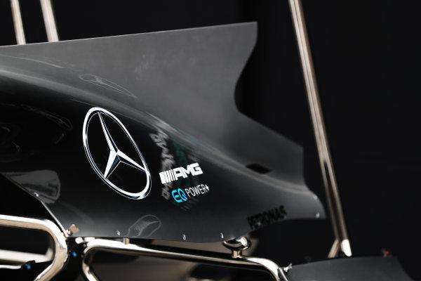 Albert Park, Melbourne, Australia. Wednesday 22 March 2017. Mercedes F1 W08 EQ Power+ shark fin detail. World Copyright: Sam Bloxham/LAT Images ref: Digital Image AJ6I0022