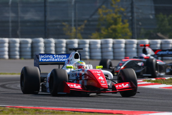 NURBURG (GER) Sept 11-13 2015 - World series by Renault 2015, round 7 at the Nurburgring. Oliver Rowland #4 Fortec, leads Nyck de Vries #1 Dams. Action. © 2015 Diederik van der Laan  / Dutch Photo Agency / LAT Photographic