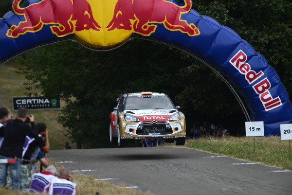 Dani Sordo (ESP) and Carlos Del Barrio (ESP), Citroen DS3 WRC on stage 11.FIA World Rally Championship, Rd9, ADAC Rally Germany, Day Three, Trier, Germany, 24 August 2013.