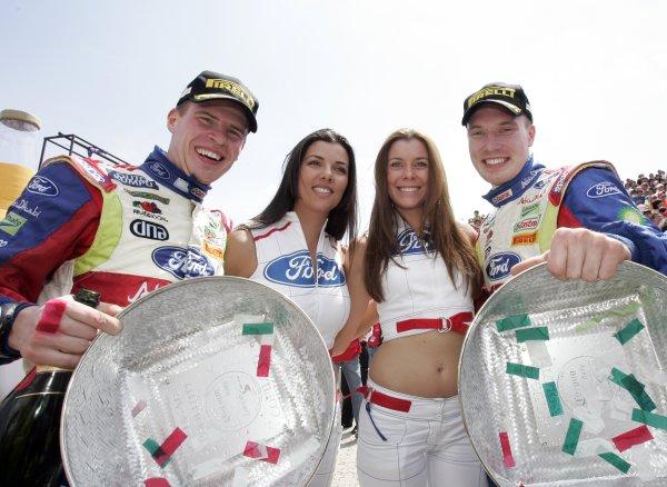 2008 FIA World Rally ChampionshipRound 03Rally Mexico28 February-2 March 2008Jari-Matti Latvala, Ford, Podium.Worldwide Copyright: McKlein/LAT
