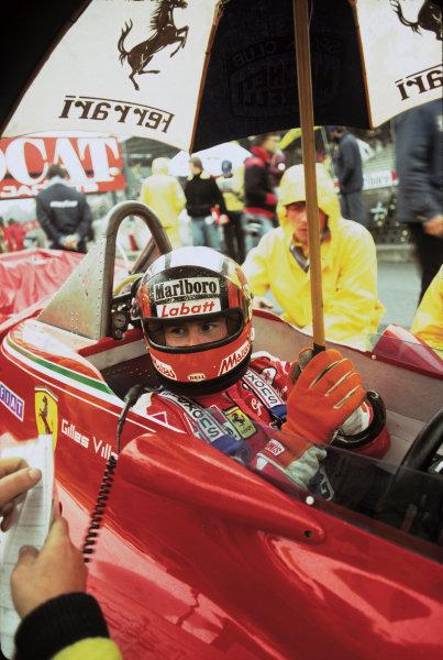 Zolder, Belgium. 11 - 13 May 1979.Gilles Villeneuve (Ferrari 312T4), 7th position, on the starting grid, portrait.World Copyright: LAT Photographic.Ref: 79BEL26