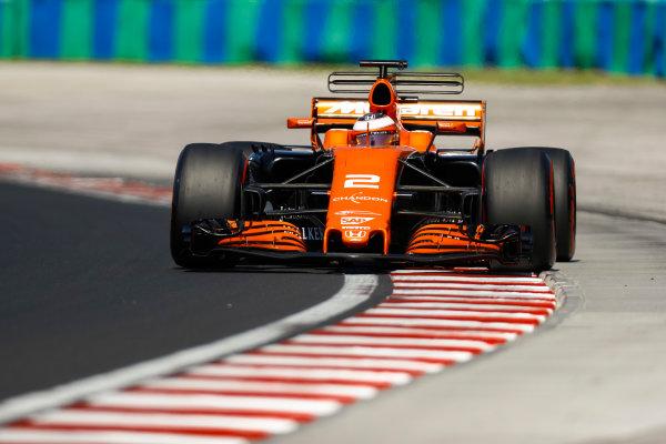 Hungaroring, Budapest, Hungary.  Tuesday 01 August 2017. Stoffel Vandoorne, McLaren MCL32 Honda. World Copyright: Joe Portlock/LAT Images  ref: Digital Image _R3I0716