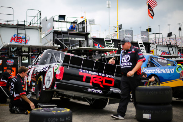 NASCAR Camping World Truck Series Buckle Up In Your Truck 225 Kentucky Speedway, Sparta, KY USA Wednesday 5 July 2017 Christopher Bell, Toyota Toyota Tundra crewmen World Copyright: Barry Cantrell LAT Images
