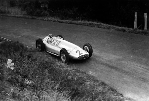 Nurburgring, Germany. 23rd July 1939.Heinz Brendel (Mercedes-Benz W154), retired, action. World Copyright: LAT Photographic.Ref:  39GERRF