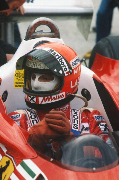 Watkins Glen, New York, USA. 30/9-2/10 1977. Niki Lauda, Ferrari 312T2, 4th position. Ref: 77USA04. World Copyright - LAT Photographic