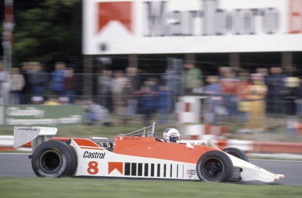 1980 British Grand Prix.Brands Hatch, Great Britain. 11-13 July 1980.Alain Prost (McLaren M29C-Ford Cosworth), 6th position.World Copyright: LAT PhotographicRef: 35mm transparency 80GB18