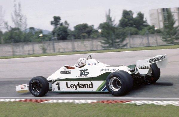 1981 Brazilian Grand Prix.Jacarepagua, Rio de Janeiro, Brazil. 27-29 March 1981.Alan Jones (Williams FW07C-Ford Cosworth), 2nd position.World Copyright: LAT PhotographicRef: 35mm transparency 81BRA05