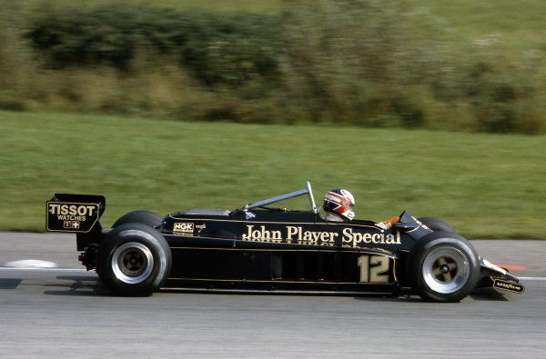 1981 Austrian Grand Prix.Osterreichring, Austria. 14-16 August 1981.Nigel Mansell (Lotus 87-Ford Cosworth), retired.World Copyright: LAT PhotographicRef: 35mm transparency 81AUT25