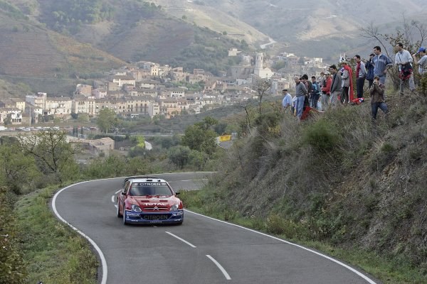2005 FIA World Rally Champs. Round fifteenRally RACC Catalunya - Costa Durada.27th-30th  October 2005.Sebastien Loeb, Citroen, action.World Copyright: McKlein/LAT