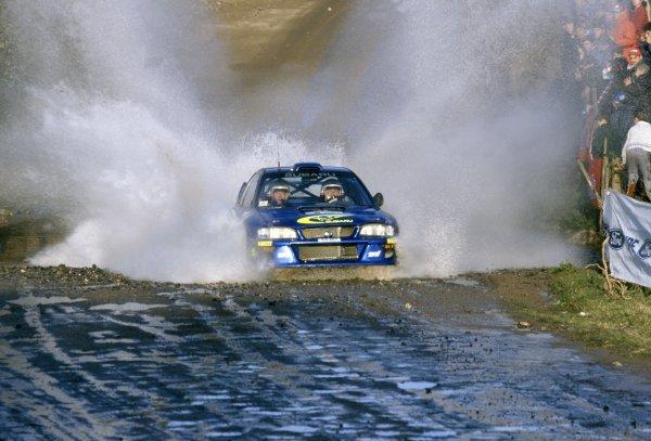 1999 World Rally Championship.Argentine Rally, Argentina. 22-25 May 1999.Juha Kankkunen/Juha Repo (Subaru Impreza WRC), 1st position.World Copyright: LAT PhotographicRef: 35mm transparency 99RALLY07