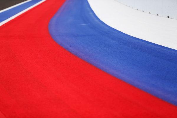 2014 GP3 Series. Round 8.   Sochi Autodrom, Sochi, Russia.  Wednesday 8 October 2014. Painted track Photo: Sam Bloxham/GP3 Series Media Service. ref: Digital Image _SBL5997