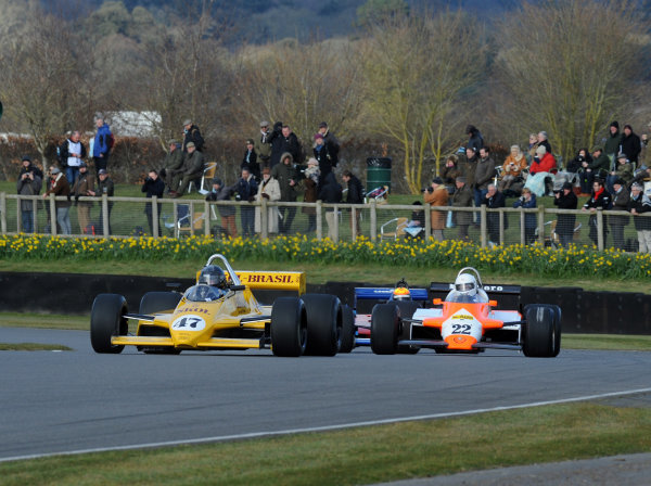 2016 74th Members Meeting Goodwood Estate, West Sussex,England 19th - 20th March 2016 Ground Effect Grand Prix Demo Fittipaldi William Lynch World Copyright : Jeff Bloxham/LAT Photographic Ref : Digital Image