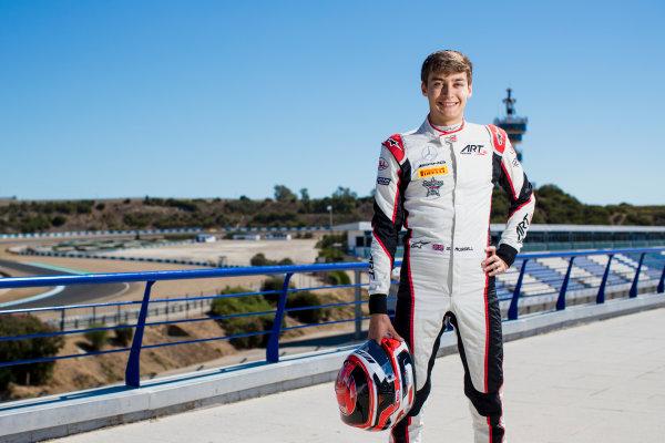 2017 GP3 Series Round 7.  Circuito de Jerez, Jerez, Spain. Thursday 5 October 2017. George Russell (GBR, ART Grand Prix).  Photo: Zak Mauger/GP3 Series Media Service. ref: Digital Image _56I3929