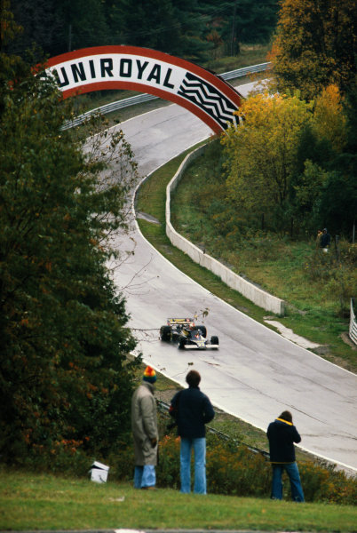 Mosport Park, Ontario, Canada.9th October  1977.Clay Regazzoni (Ensign N177-Ford), DNQ, action. World Copyright: LAT Photographic.Ref:  77CAN