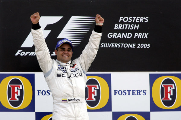 2005 British Grand Prix,Juan Pablo Montoya (Col), McLaren-Mercedes, Silverstone, Grand Prix, 10th July 2005 World copyright: Jakob Ebrey/LAT Photographic.