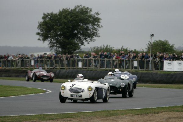 2006 Goodwood Revival Meeting. Goodwood, West Sussex. 2nd - 3rd September 2006 Freddie March Memorial Trophy.Johnny Herbert leads Richard Attwood in his Austin Healey 100s.World Copyright: Gary Hawkins/LAT Photographic ref: Digital Image Only