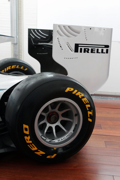 The 2011 GP2 Series car is unveiled with Pirelli supporting the series.GP2 Series, Rd9, Monza, Italy, Thursday 9 September 2010.