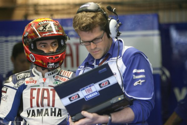 2008 MotoGP Championship.Le Mans, France. 15th - 18th May, 2008.Jorge Lorenzo Fiat Yamaha Team  .World Copyright: Martin Heath / LAT Photographic