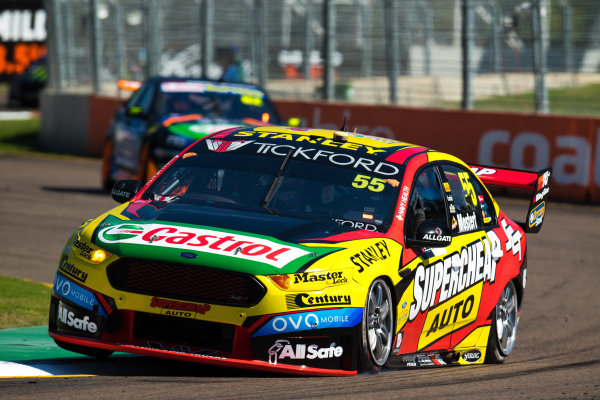 2017 Supercars Championship Round 7.  Townsville 400, Reid Park, Townsville, Queensland, Australia. Friday 7th July to Sunday 9th July 2017. Chaz Mostert drives the #55 Supercheap Auto Racing Ford Falcon FGX. World Copyright: Daniel Kalisz/ LAT Images Ref: Digital Image 070717_VASCR7_DKIMG_379.jpg