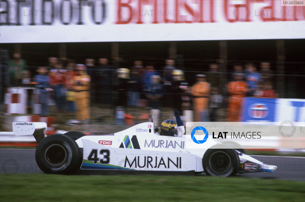Brands Hatch, Great Britain. 11-13 July 1980.Desire Wilson (Williams FW07-Ford Cosworth), did not qualify, action.World Copyright: LAT PhotographicRef: 35mm transparency.