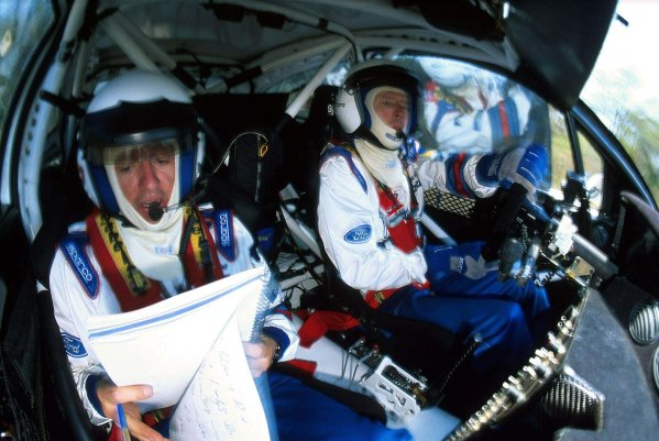 2000 World Rally Championship Round 3, Safari WRC 25th - 27th Feb 2000 Colin McRae & Nicky Grist in action in the Ford Focus. Photo: McKlein.