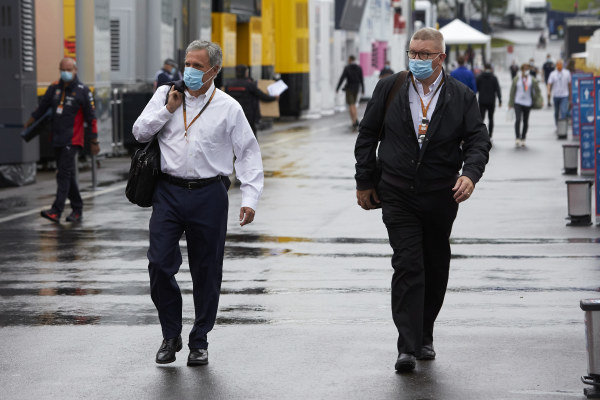 Chase Carey, Chairman, Formula 1, and Ross Brawn, Managing Director of Motorsports, FOM