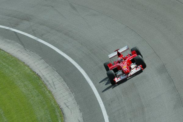 2002 USA Grand Prix - PracticeIndianapolis, USA, 27th September 2002Michael Schumacher.World Copyright: Steve Etherington/LATref: Digital Image Only