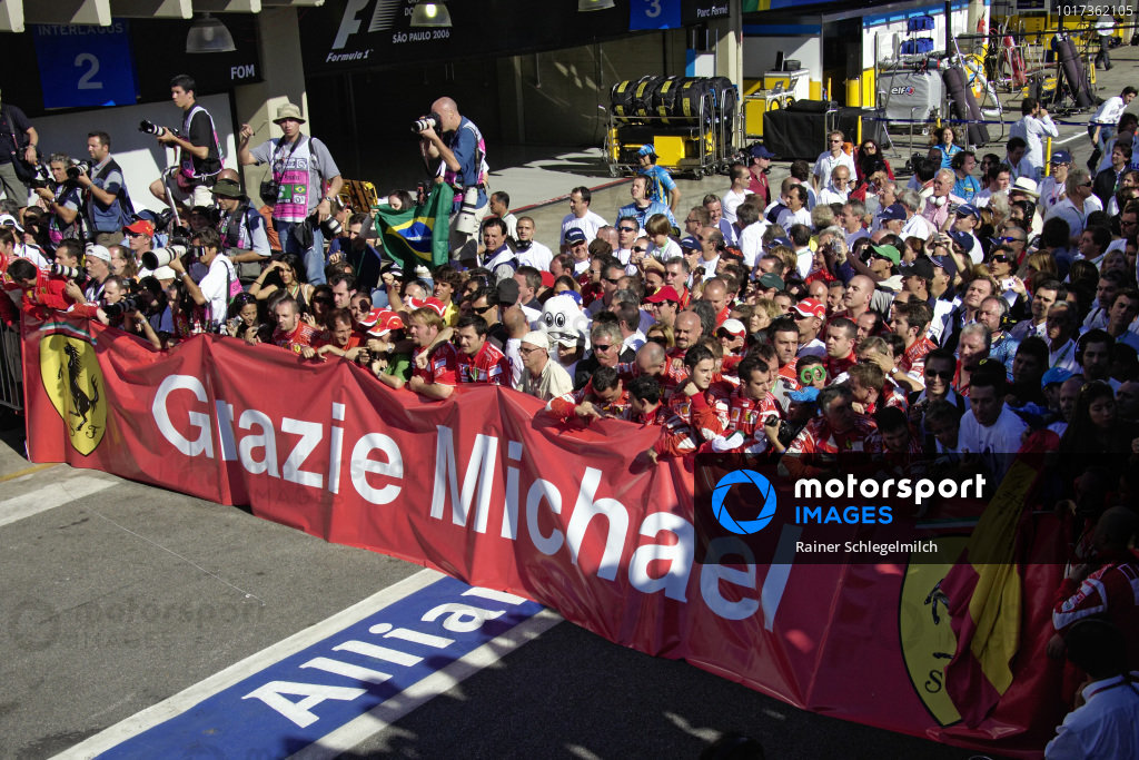 The Ferrari team thank Michael Schumacher for his service over the past 11 seasons.