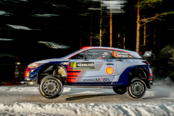 Dani Sordo (ESP) / Marc Marti (ESP), Hyundai Motorsport i20 Coupe WRC at World Rally Championship, Rd2, Rally Sweden, Preparations and Shakedown, Karlstad, Sweden, 9 February 2017.