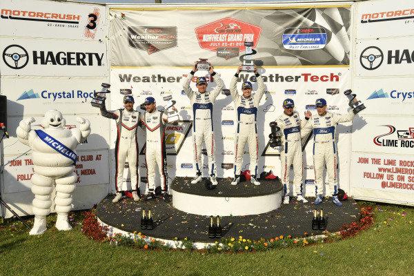 #912 Porsche GT Team Porsche 911 RSR, GTLM: Earl Bamber, Laurens Vanthoor, #67 Ford Chip Ganassi Racing Ford GT, GTLM: Ryan Briscoe, Richard Westbrook ,#66 Ford Chip Ganassi Racing Ford GT, GTLM: Joey Hand, Dirk Mueller