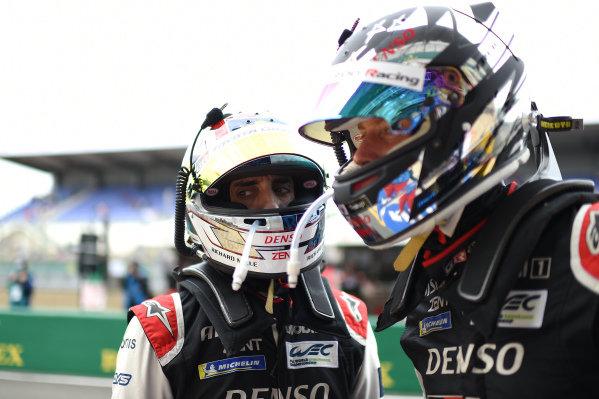 Sébastien Buemi, #8 Toyota Gazoo Racing Toyota GR010 - Hybrid Hypercar, Brendon Hartley, #8 Toyota Gazoo Racing Toyota GR010 - Hybrid Hypercar