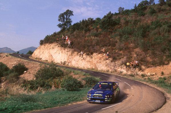 2001 FIA World Rally ChampsRallye de France, Ajaccio, Corsica, 18th-21st October 2001.Richard Burns in the Subaru , action.World Copyright: LAT Photographic/McKlein.ref: 35mm Image A12