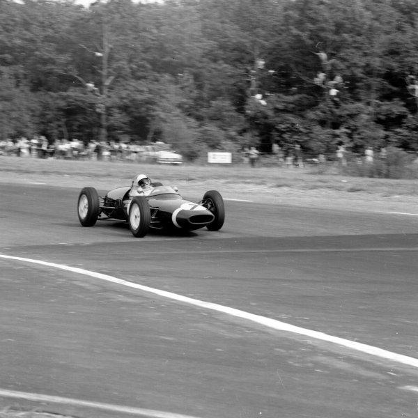 1961 United States Grand Prix, Watkins Glen, USA.8 October 1961.Stirling Moss (Lotus 18-Climax).Ref-10897.World - LAT Photographic