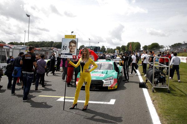Grid girl of Nico Müller, Audi Sport Team Abt Sportsline.
