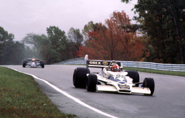 1977 United States Grand Prix East.Watkins Glen, New York, USA.30/9-2/10 1977.Ian Ashley (Hesketh 308E Ford) 17th position.World Copyright - LAT Photographic