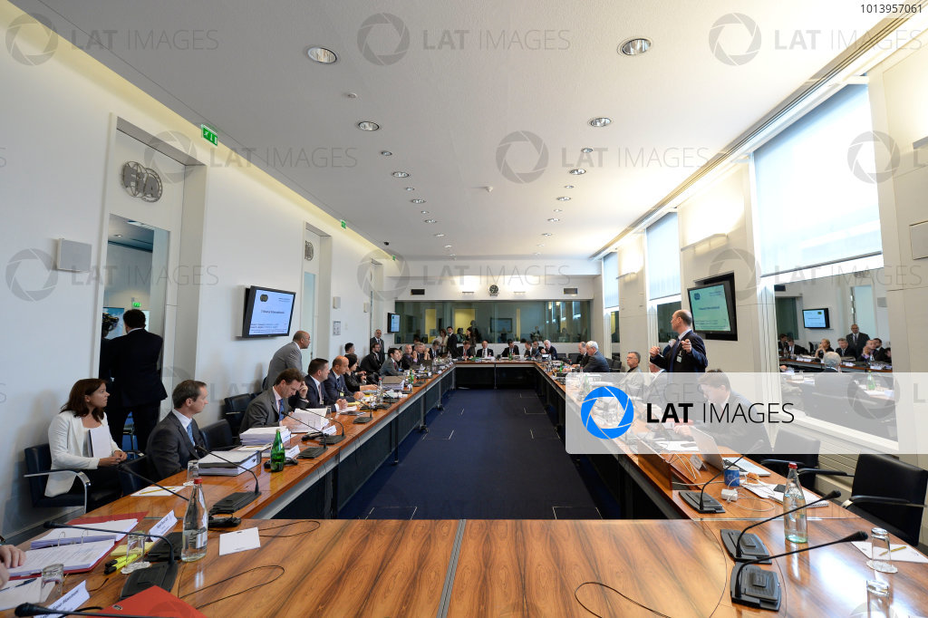 FIA Headquarters, Paris, France 20th June 2013 The hearing over the Mercedes tyre test is underway World Copyright: DPPI/  ref: Digital Image _JC23757