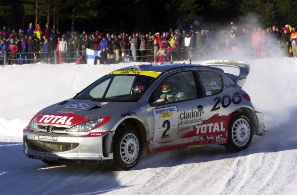 2001 World Rally Championship.   Swedish Rally. 9th - 11th February 2001. Rd 2. Didier Auriol on stage four. World Copyright: Ralph Hardwick/ LAT Photographic. Ref: Auriol3