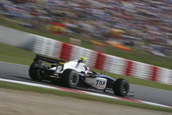 2007 GP2 Series. Round 2. Sunday RaceBarcelona, Spain. 13th May 2007. Kohei Hirate (JPN, Trident Racing). Action. World Copyright: Andrew Ferraro/GP2 Series Media Sevice  ref: Digital Image ZP9O7105