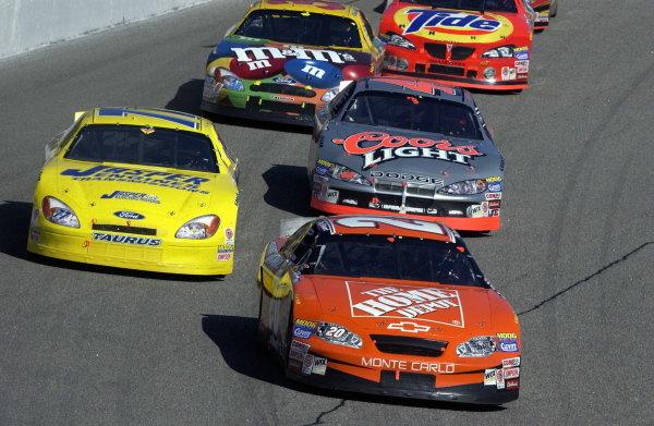 Tony Stewart (USA) Home Depot Chevrolet, finished 9th. NASCAR Winston Cup Series, Rd35, Pop-Secret Microwave Popcorn 400, Rockingham, North Carolina, USA. 9 November 2003.DIGITAL IMAGE