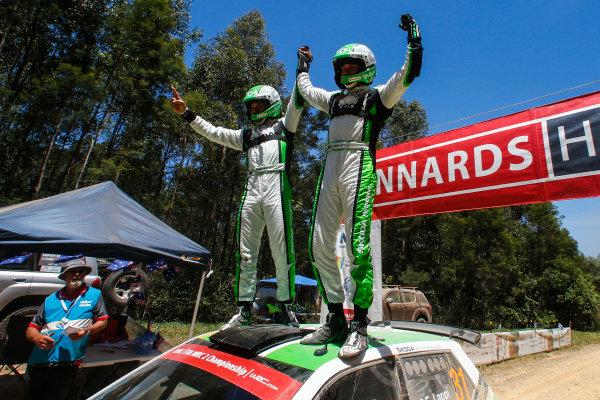 2016 FIA World Rally Championship, Round 14, Rally Australia, November 17-20, 2016, Esapekka Lappi, Skoda, celebration Worldwide Copyright: McKlein/LAT